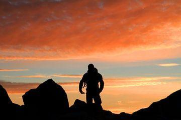 Bergsteiger Morgen von Gerhard Albicker