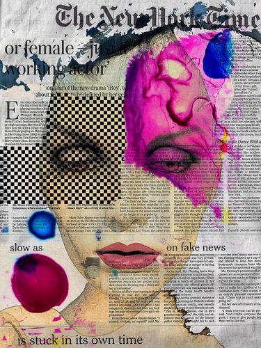 The face and the newspaper van Gabi Hampe