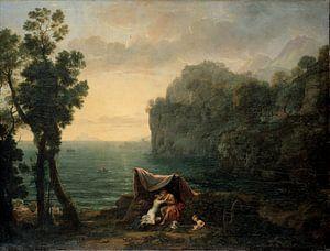 Claude Lorrain. Landschap met Acis en Galatea van