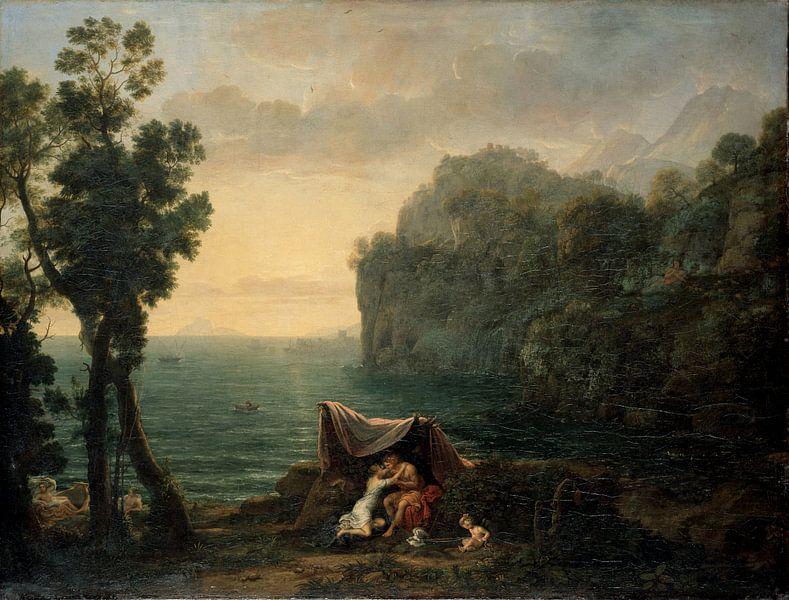 Claude Lorrain. Landschap met Acis en Galatea van 1000 Schilderijen