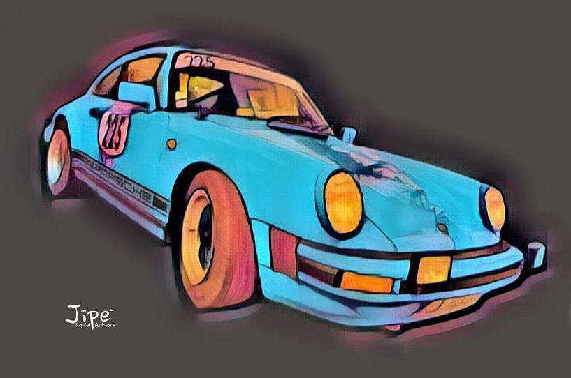 Porsche 911 - 225 van JiPé digital artwork