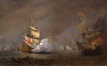Zeeslag tijdens de Engels-Nederlandse oorlogen, Willem van de Velde de Jonge