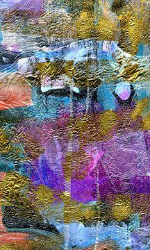 experimentelle Komposition in Pink von Claudia Gründler