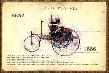 retro cars postcard sur Ariadna de Raadt