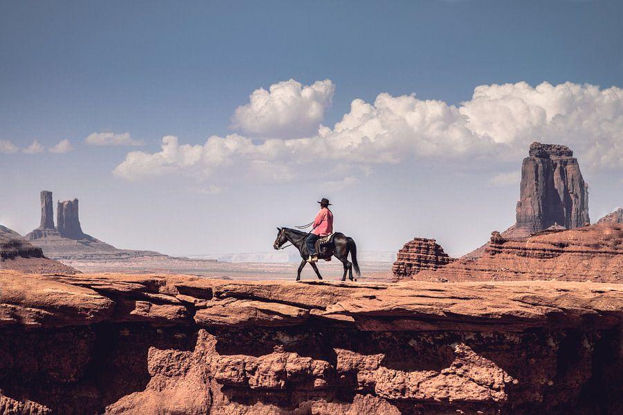 Navajo at John Ford's Point van Marco de Waal