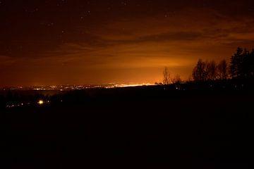 Stadt bei Nacht in Tschechien von Marcel Ethner