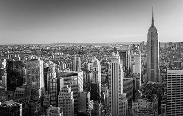 Manhattan in Schwarz-Weiß vom Top of the Rock aus gesehen