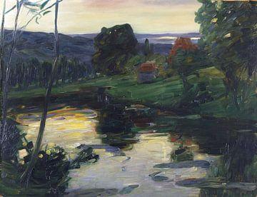 Landschaft an den Osterseen, LEO PUTZ, um 1905