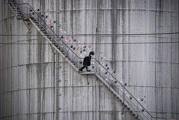 Graffiti am Industrietank von Joachim G. Pinkawa