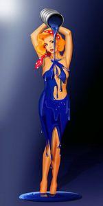 Ik schilder zelf een jurk - Bodypainting