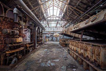 roestige verlaten suikerfabriek van Kristof Ven