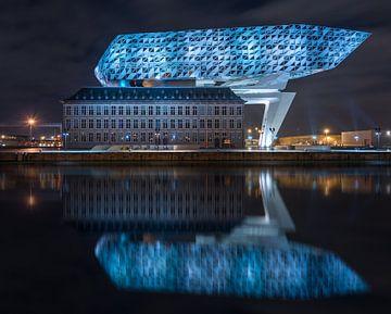 Bâtiment du port d'Anvers sur Quirien Marijs