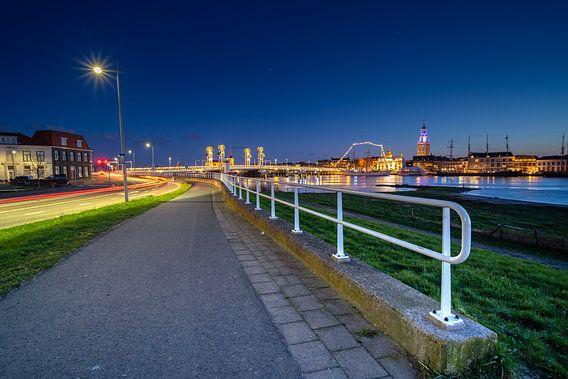 Blauwe uur en avond boven IJsselmuiden & Kampen