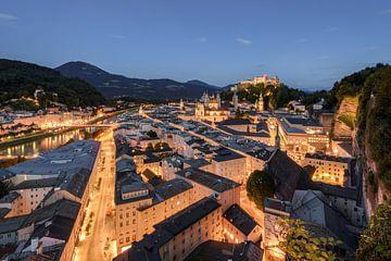 Salzburg in the evening van