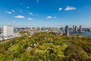 De skyline van Rotterdam van