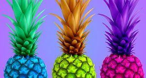 Ananas, kleurrijke van