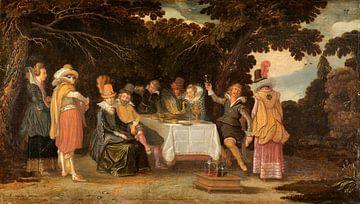 Eine Party unter freiem Himmel, Esaias van de Velde