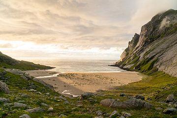 Sonnenuntergang am Bunnes-Strand von Axel Weidner