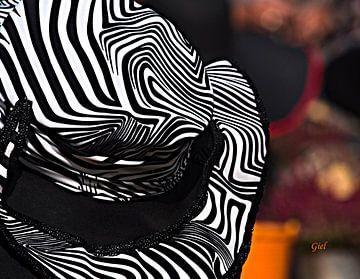 Detail van een hoed, Chapeau Buren, hoeden all over the place van M  van den Hoven