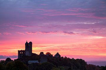 Burg Greifenstein - Sonnenaufgang - Morgenröte von Jiri Viehmann