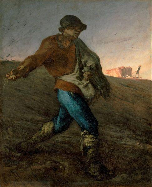 Der Sämann, Jean-François Millet von Meesterlijcke Meesters