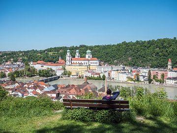 Gezicht op de kathedraal van Passau in Neder-Beieren van Animaflora PicsStock