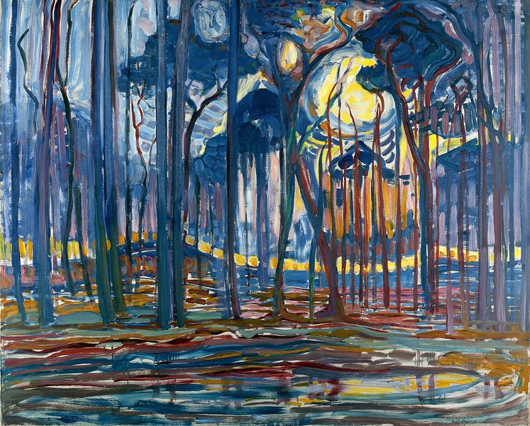 Piet Mondriaan, Bosch; Bos bij Oele, 1908 von Atelier Liesjes