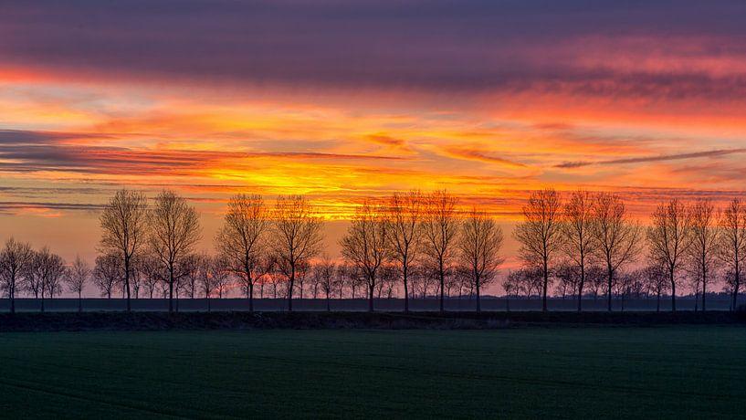 Na zonsondergang kleuren van Bram van Broekhoven