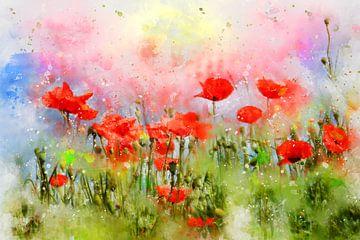 Mohnblumen Wiese von Claudia Evans