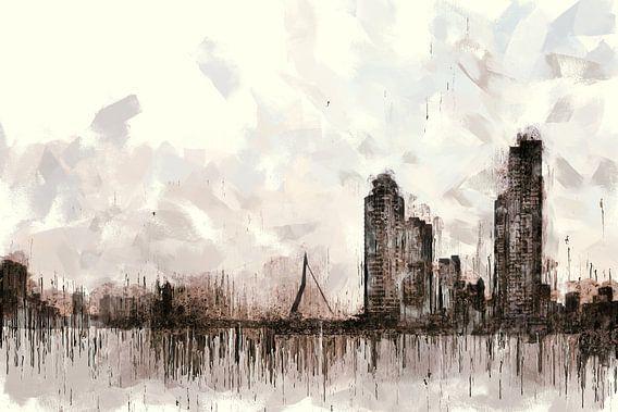 Rotterdam Skyline van Arjen Roos