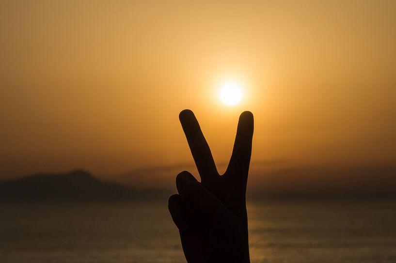 Vrede bij zonsondergang van Patrick Verhoef