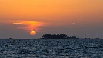 Zonsondergang Grevelingenmeer van
