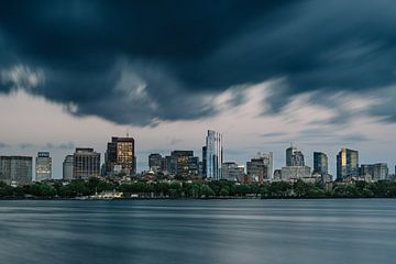 Photographie de voyage - horizon de Boston - exposition longue - architecture sur Eleana Tollenaar