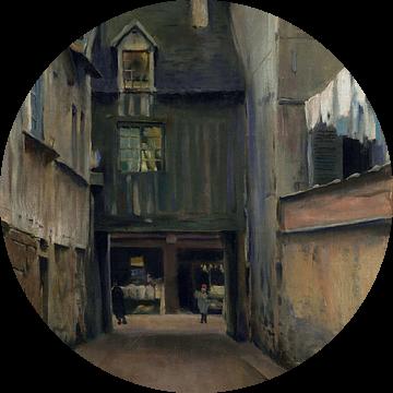 Santiago Rusiñol, Rouen's straat - Parijs, 1889 van Atelier Liesjes