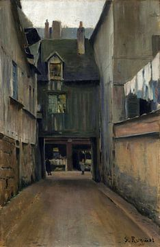 Santiago Rusiñol, Straße von Rouen - Paris, 1889 von Atelier Liesjes
