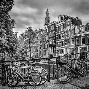 AMSTERDAM Bloemgracht schwarz-weiß