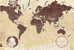 Wereldkaart, Bruin
