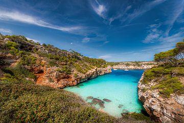 Zwembaai op het eiland Mallorca. van Fine Art Fotografie