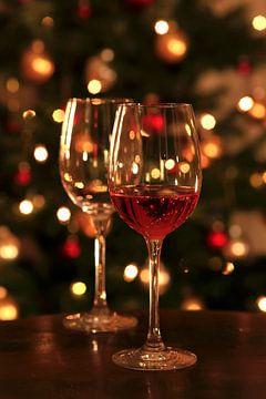 Du vin devant le sapin de Noël sur Thomas Jäger