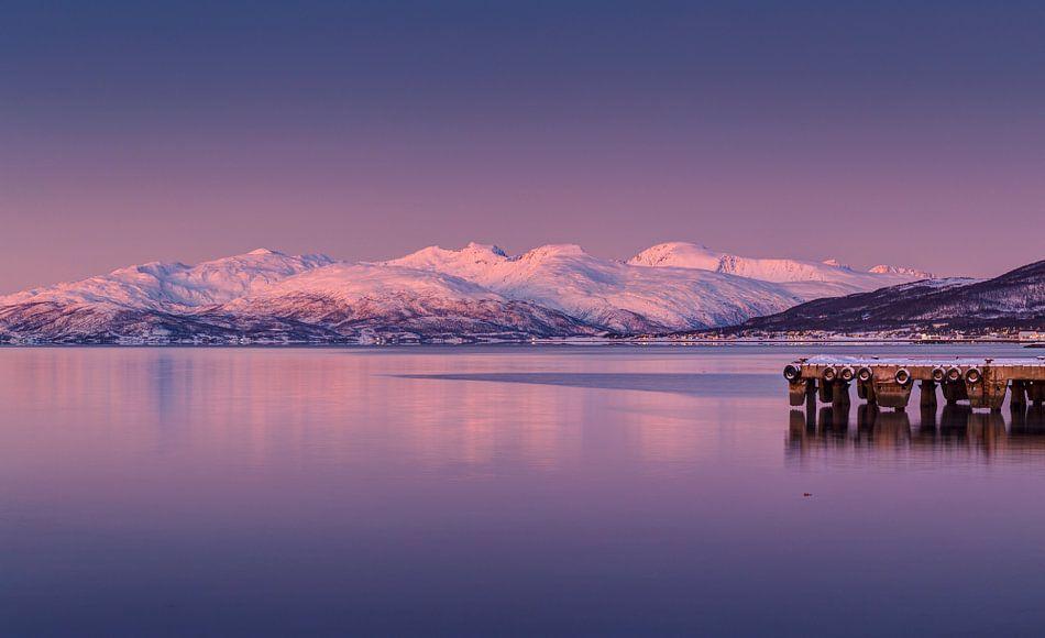 Avondstemming Noord Noorwegen van Adelheid Smitt