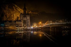 De weerspiegeling van Dinant, Belgie van
