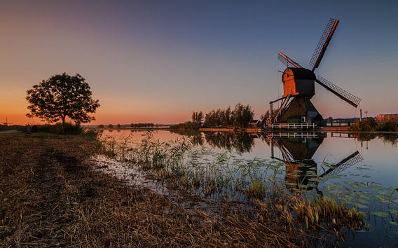 Windmolen reflectie van Ilya Korzelius
