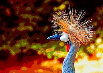 Crowned crane van Leopold Brix