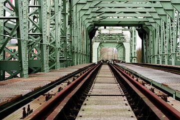 De Hef Eisenbahnbrücke Rotterdam von Vincent van Kooten