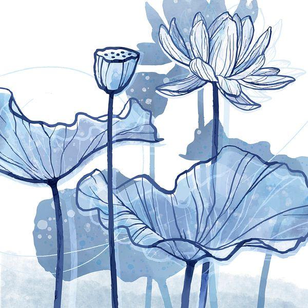 Lotus Delfstblauw 01 van Ingrid Joustra