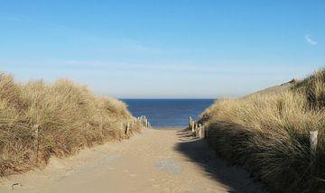entrée de la plage sur nataschja van der Woude-de Jong