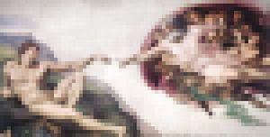 Pixel Art: De schepping van Adam van JC De Lanaye