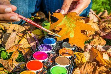 Bladeren schilderen in de herfst van Animaflora PicsStock