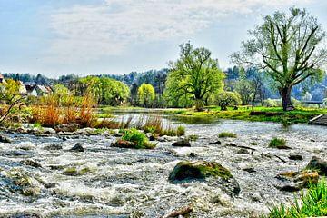 Drijvend water in Kallmünz van Roith Fotografie