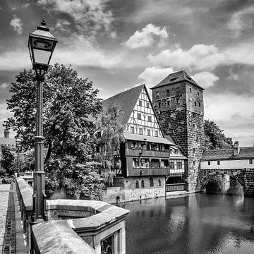 NÜRNBERG Blick von der Maxbrücke zum Henkersteg   sur Melanie Viola